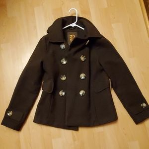 Women's dollhouse brown peacoat size small